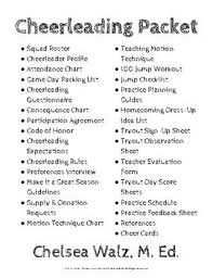 Cheerleading Information Packet And Cheer Cards Cheer Mom