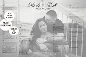 Photo Wedding Seating Chart Photo Table Seating Chart Printed Seating Chart Poster Board Black And White Photo Pdf Or Printed Available