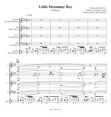The little drummer boy (carol of the drum) sheet music. Little Drummer Boy Pentatonix Full Arrangement With Lyrics Sheet Music For Piano Drum Group Tenor Alto More Instruments Mixed Ensemble Musescore Com
