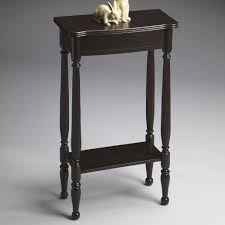 narrow black console table. Small Black Console Table With Decorative Rabbit Statue On Top Narrow L