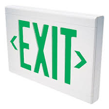 17 best ideas about emergency exit signs exit sign dual lite lxugwe led green emergency exit sign battery included white commercial lighting emergency
