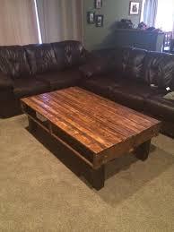 diy simple pallet wood coffee table