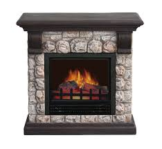 comfort glow the concord compact gray faux stone mantel electric fireplace ef5411