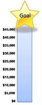 Money Thermometer Chart Money Raising Goal Chart Money
