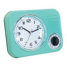 Retro Kitchen Wall Clocks 1950039s Retro Kitchen Wall Clock With 60 Minutes Timer