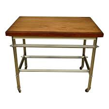 Luxury Mid Century Modern French Commercial Kitchen Work Table Decaso