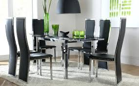 awesome innovative black dining room chairs stunning table and inside sets 6 glass d dining