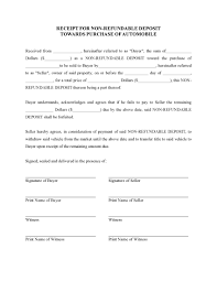 Sample Business Purchase Agreement Receipt For Deposit On Purchase Of Vehicle Legal Forms And 6