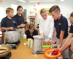 6th and 7th grade students learns life skills admiral farragut