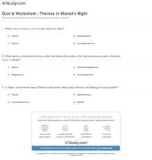quiz worksheet themes in wiesel s night study com print elie wiesel s night themes imagery worksheet