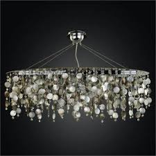 oval chandelier mother of pearl chandelier midnight pearl 582