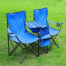 folding chair for 2 person w umbrella carring bag beach camping hiking