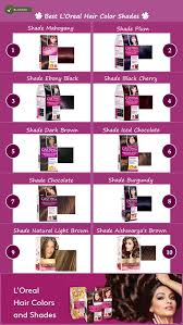 Loreal Casting Colour Chart Loreal Casting Hair Color Chart Best Picture Of Chart