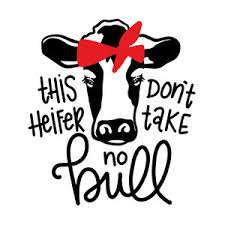 heifer silhouette. Interesting Heifer Silhouette Design Store  View 272735 This Heifer Donu0027t Take No  Bull On Heifer T