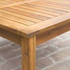 outdoor teak wood square coffee table