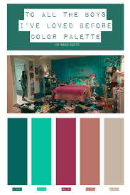 To all the boys always and forever: To All The Boys I Ve Loved Before Color Palette Cinema Colours Color Palette Palette
