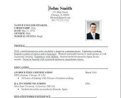 Resume Proper Format Sample Resume Format Proper Resume Format For