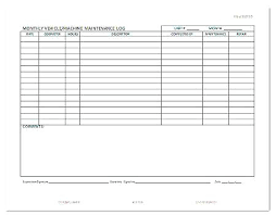 Vehicle Maintenance Log 7 Free Excel Documents Download Book