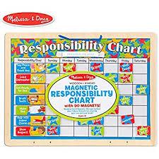 Amazon Com Melissa Doug Magnetic Responsibility And Chore