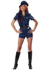 Cop costume sexy woman