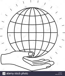 Chart Charity Silhouette Hand Palm Giving A Globe Chart Charity Symbol
