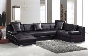 black leather sectional sofa by vig wadjustable headrests