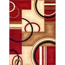 brown red rug arcs and shapes red 7 ft in x 9 ft brown sofa red brown red rug