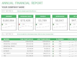 annual financial statement template template for financial report simple financial report