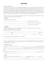 Basic Sublet Agreement Sublet Contract Ninjaturtletechrepairsco 6