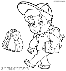 Small Picture School Boy Coloring Page