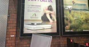 Weight Loss Recorder Disgraceful Ad For Weight Loss Company At Dublin Station