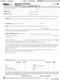 Ontario Lease Agreement Form Free Rental Lease Agreement Ontario