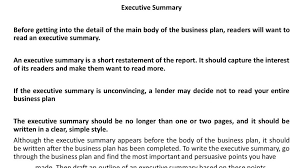 executive summary example business sample executive summary business plan coffee shopfurthersample