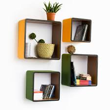 wall furniture shelves. Furniture. Four Square Yellow And Green Wooden Wall Shelves . Surprising Decorative For Furniture 1