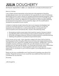 Teacher Cover Letter Example Teacher Cover Letter Examples Education Sample Cover
