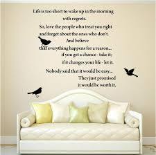 Quote Art Amazing Aliexpress Buy LIFE IS TOO SHORT Inspirational Poems WALL ART