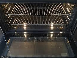 another woman unveiled her sparkling oven after the cleaning process