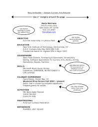 skill set resume examples example college culinary templates