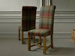 red upholstered dining chairs. Furniture. Red Green Padded Dining Room Chairs With Plaid Texture. Ergonomic Upholstered A