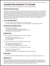 Resume For Retail Merchandiser Sample Resume For Retail