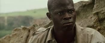 lost in the movies formerly the dancing image blood diamond and  djimon honsou is solomon vandy the fisherman whose village is burnt down while his son dia kagiso kuyperr is brainwashed by a charismatic warlord david