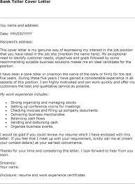 Cozy Inspiration Cover Letter For Bank Teller   Sample Of     Copycat Violence