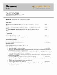 1st Job Resume Objective First For Year Teacher Template Awesome
