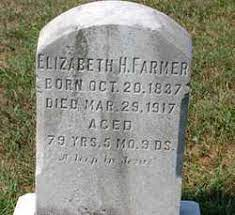 Elizabeth H Lutz Farmer (1837-1917) - Find A Grave Memorial