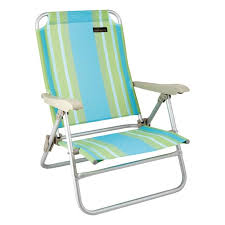 natural instinct high back aluminium beach chair