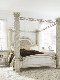 california king canopy bed. Interesting King Cassimore North Shore Pearl Silver Cal King Upholstered Poster Canopy  BedMain Image 4 Intended California Bed H