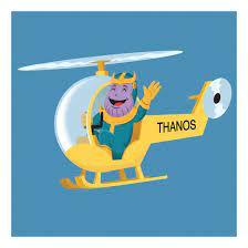 Thanos Copter 11 x 11 Druck
