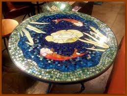 Outdoor Tile Table Top Tile And Glass Mosaic Tables