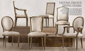 vintage dining room chairs. Vintage French Dining Chairs Restoration Hardware Room With A D