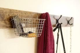 Coat Rack With Baskets DIY Coat Rack lw vogue 29